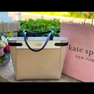 ♠️ NWT KATE SPADE Tricolor Leather LAPTOP tote